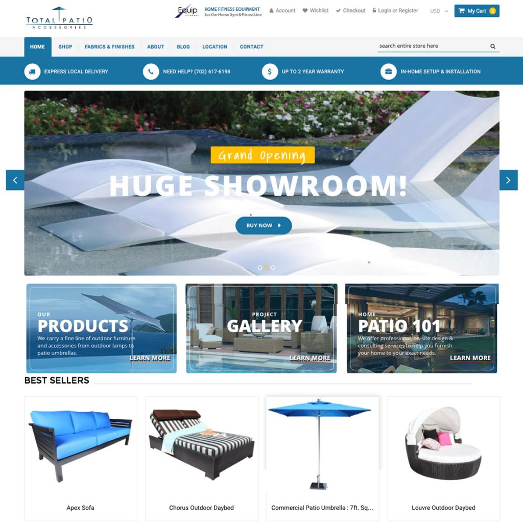 Get a custom e commerce website start selling online for Websites to sell furniture online
