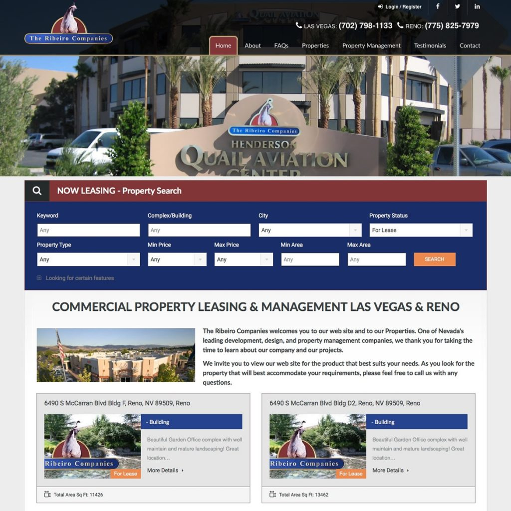 Showcase website for Realtors