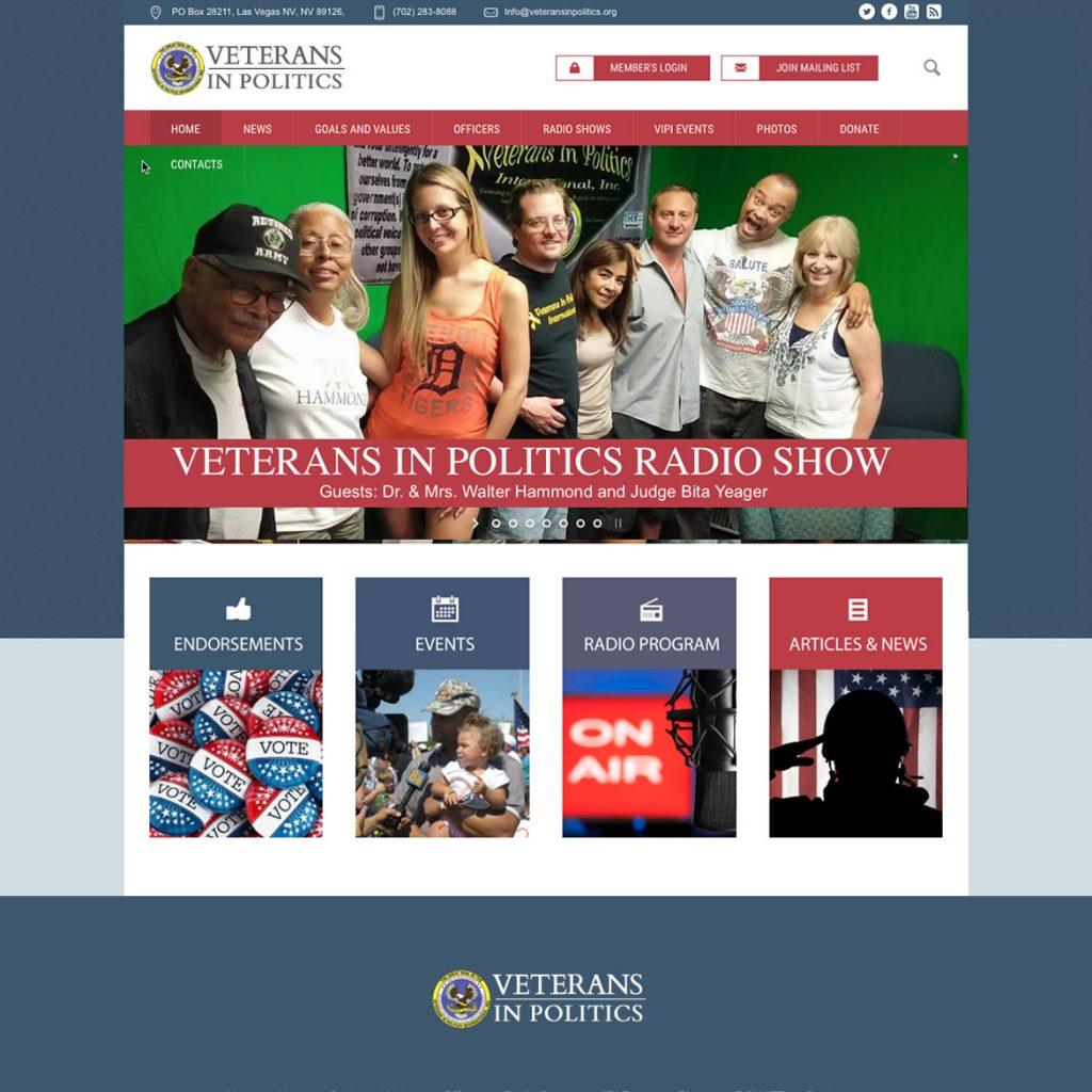 Website for Veterans Political Organization Veterans in Politics