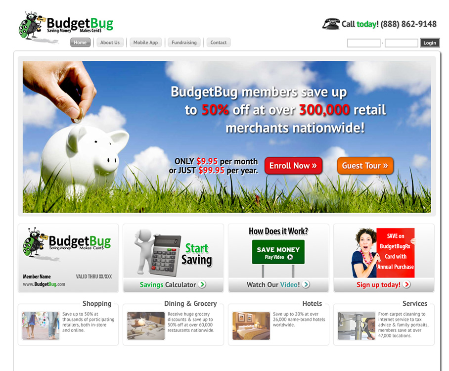 Membership Website for Retail Discount Provider