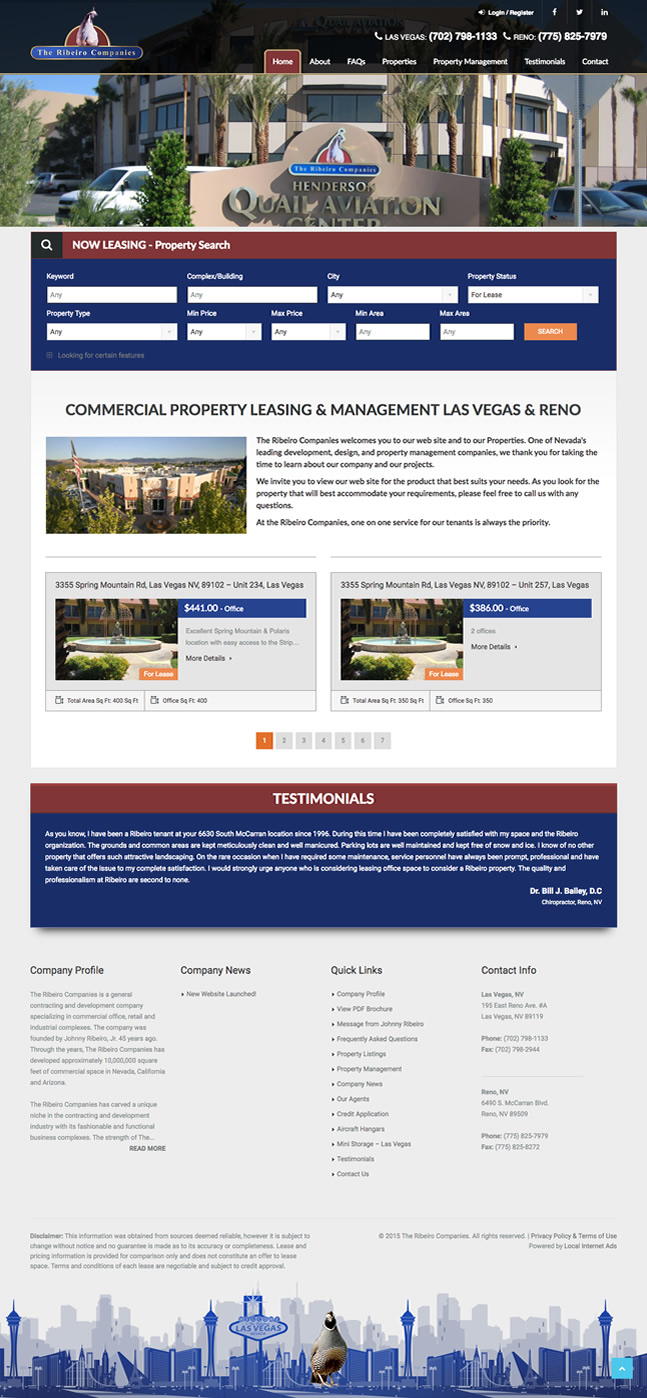 Showcase Custom WordPress website for Realtors