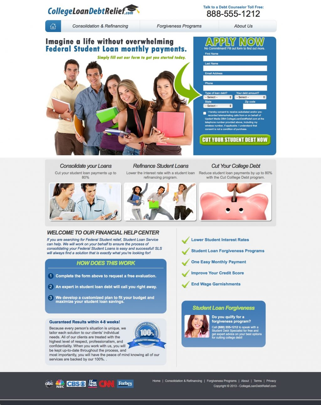 Website for Debt Consolidation