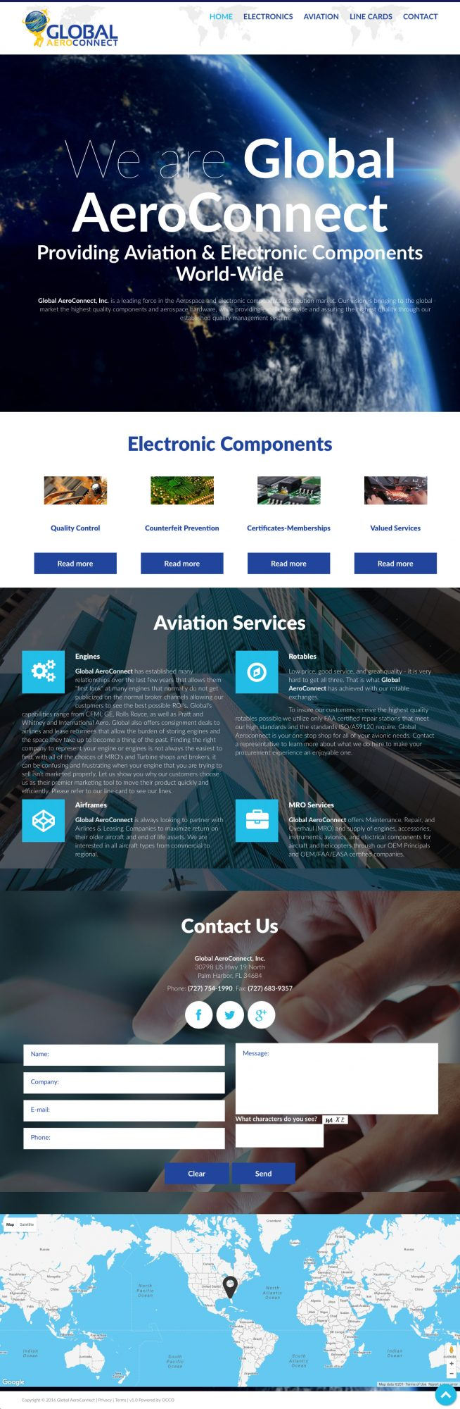 Website for Aviation & Aero Supplier
