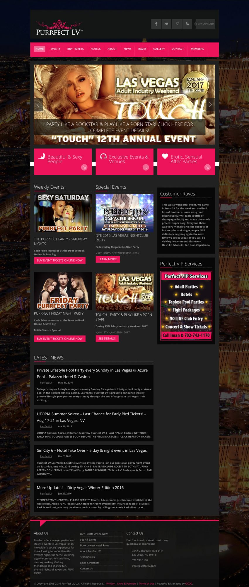 Website for Event & Party Promoters
