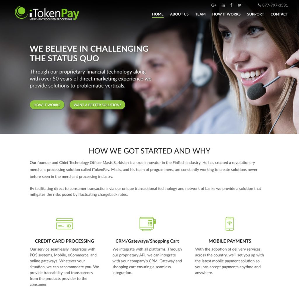 Website for Merchant Processing - iTokenPay