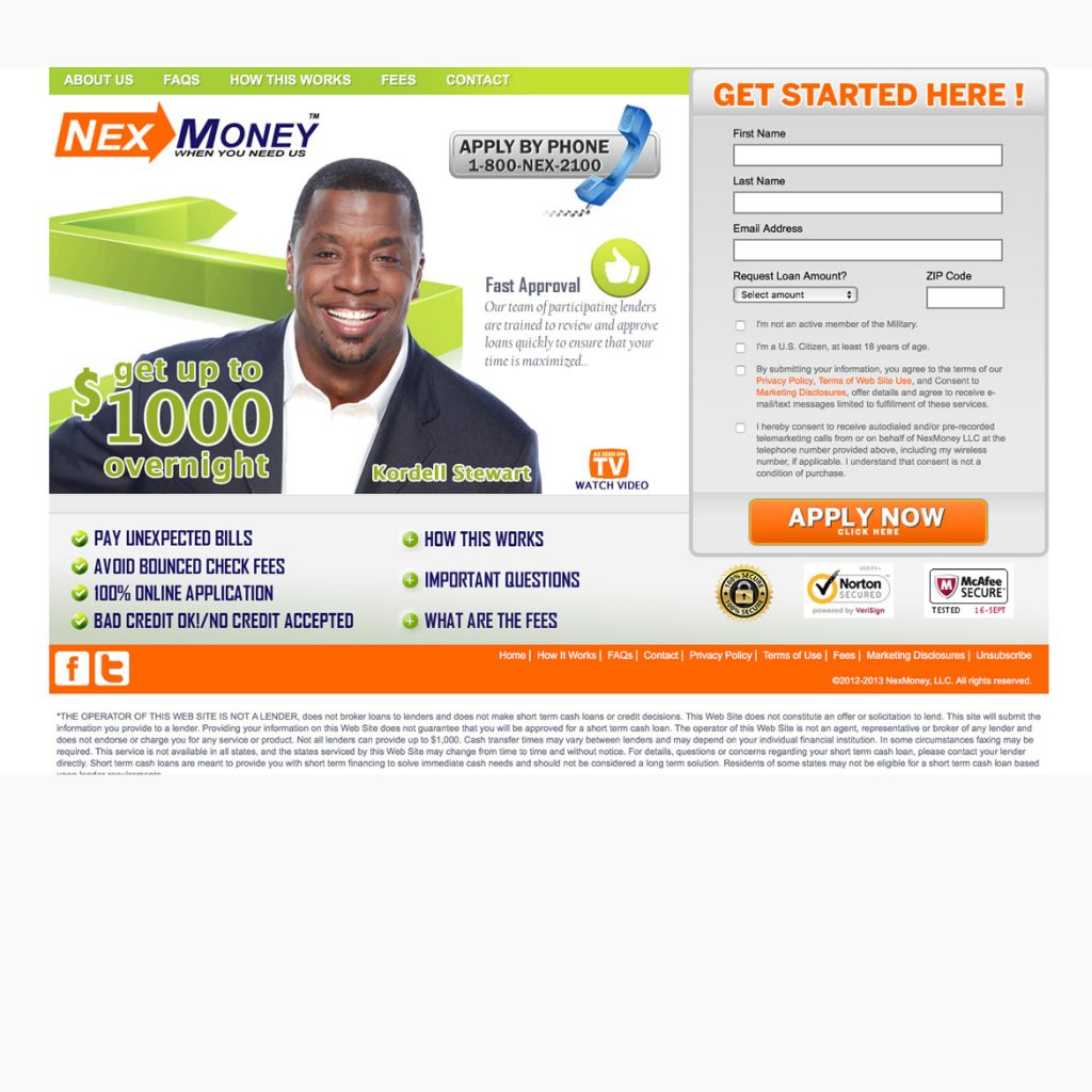 Website for Pay Day Loan