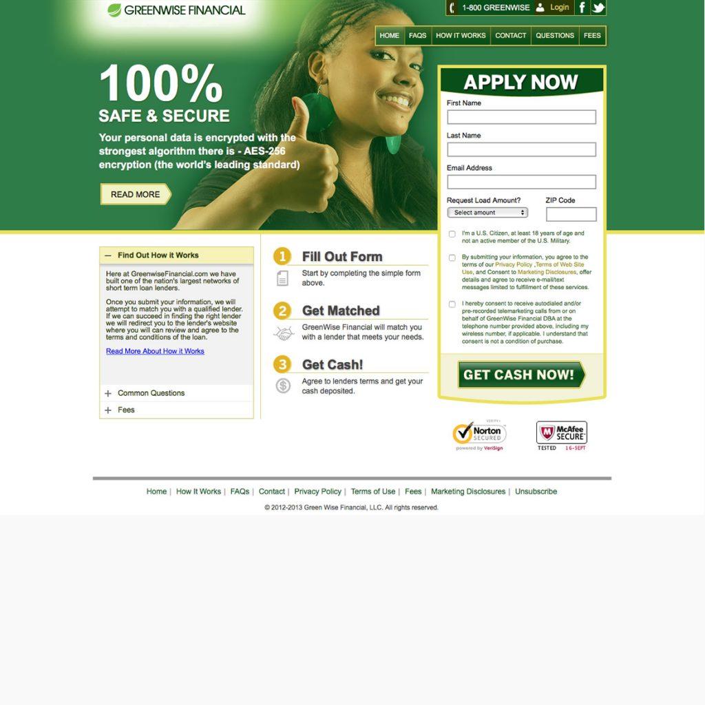 Webste for Pay Day Lending
