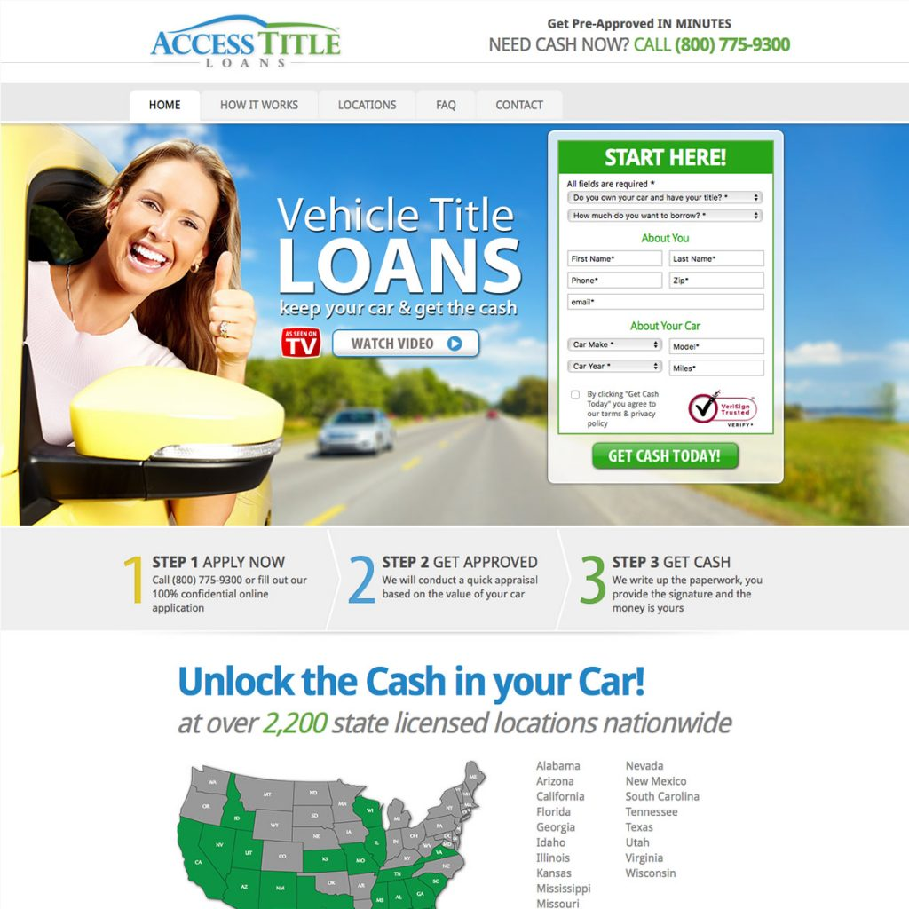 Website for Title Loans