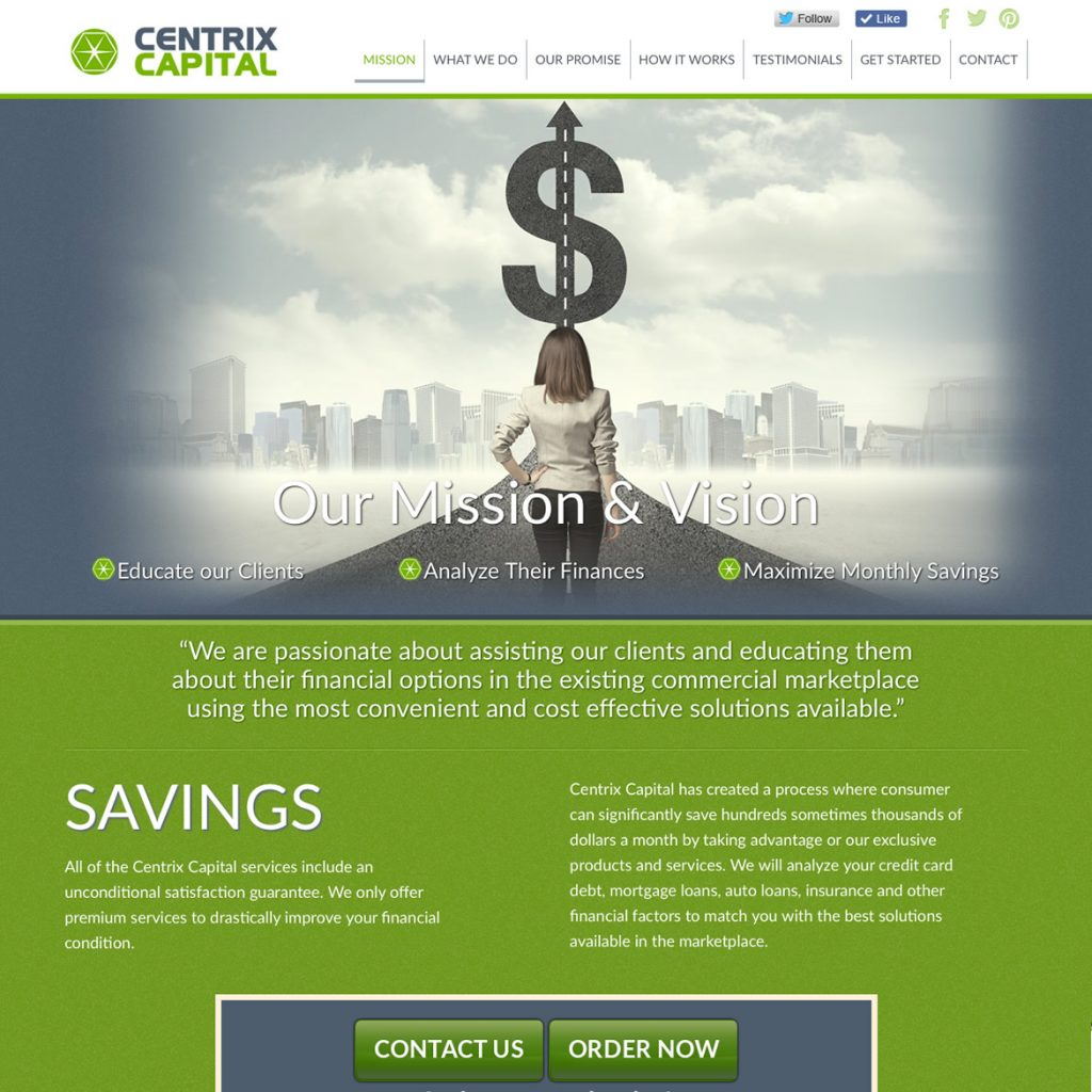 Website for Financial Investments