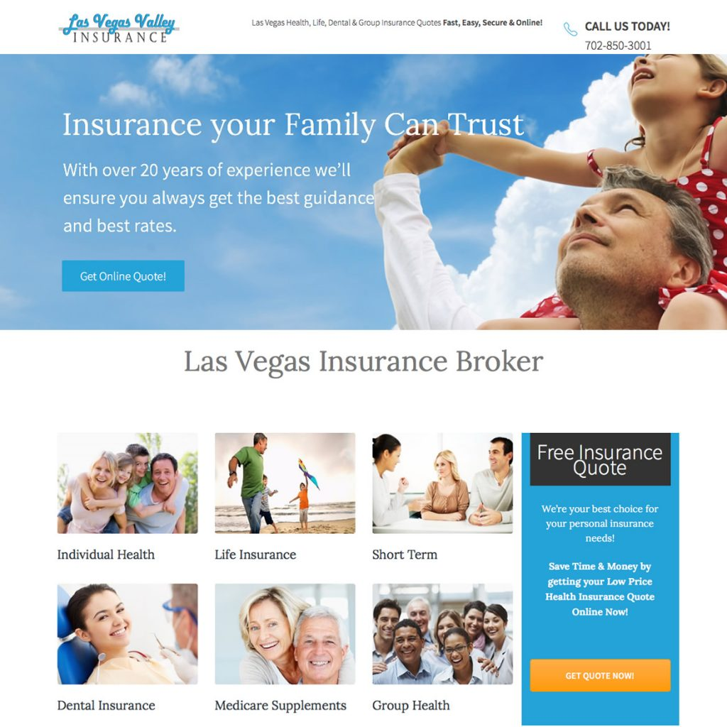 Custom Website for Insurance Brokers