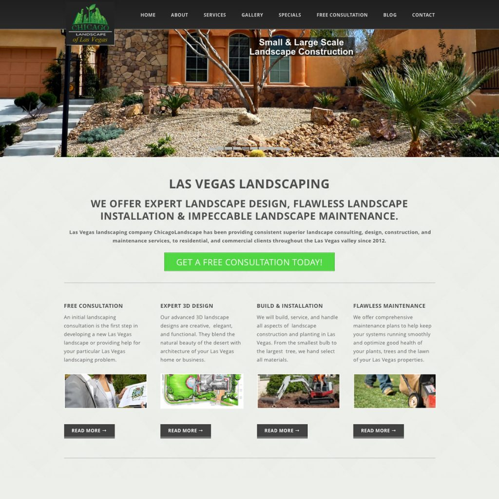 Website for landscaper
