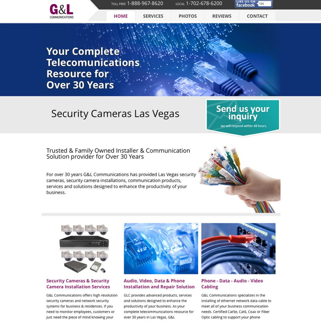Website for Security Camera Installer