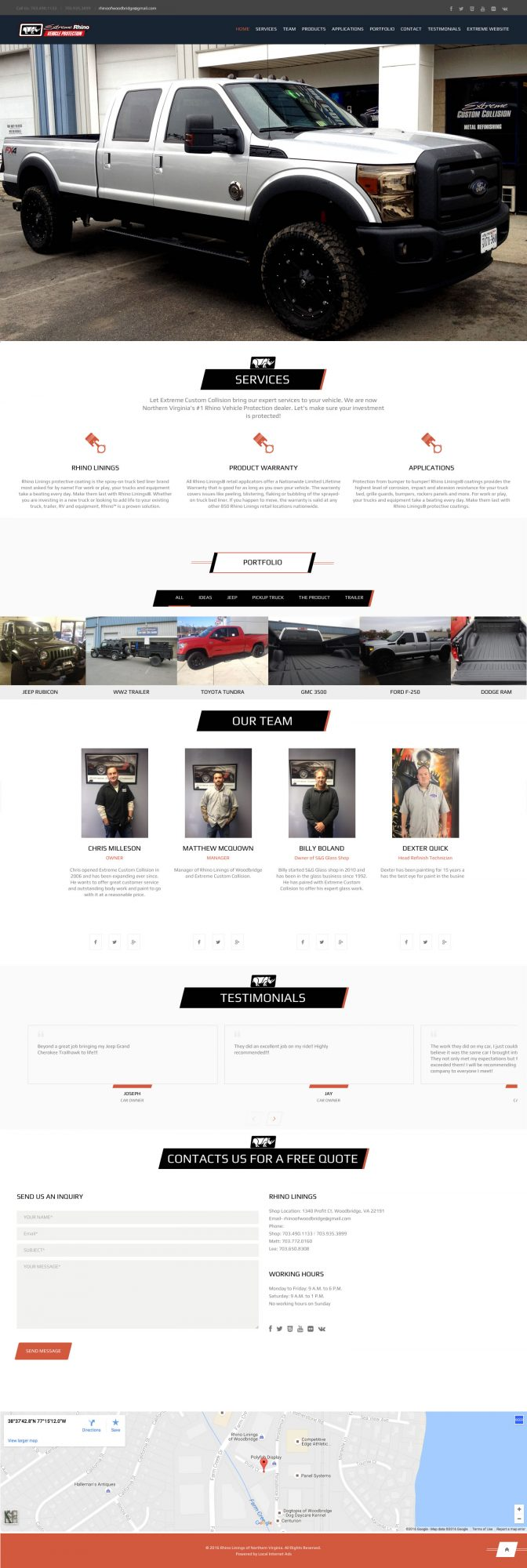 Website design Auto Body