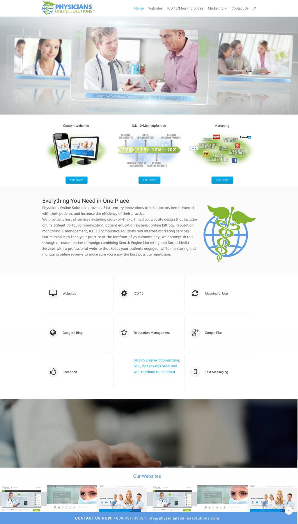 Website design for doctors