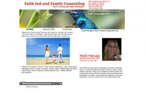 Before OCCO website redesign Faith Individual & Family Counseling