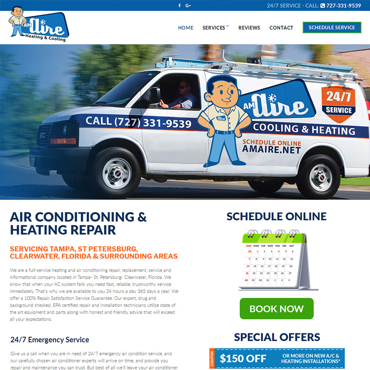 Website for AC Repair Companies