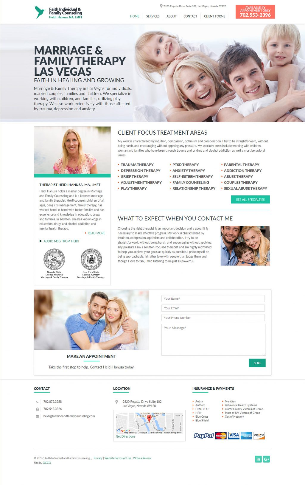 Website for Therapists – FaithIndividualCounseling