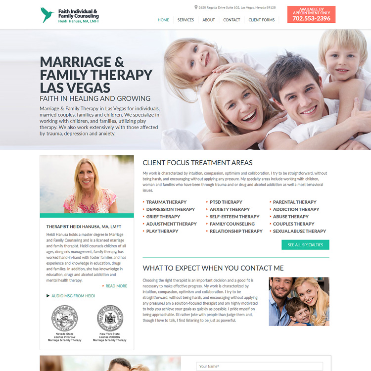 Website for Therapists - FaithIndividualCounseling