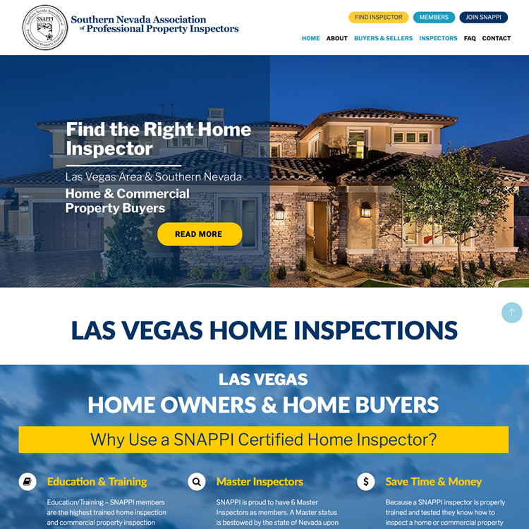Website for Home Inspectors – SNAPPI.org