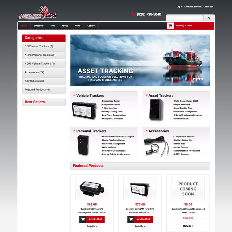 Ecommerce website design for electronics retail - Shopify