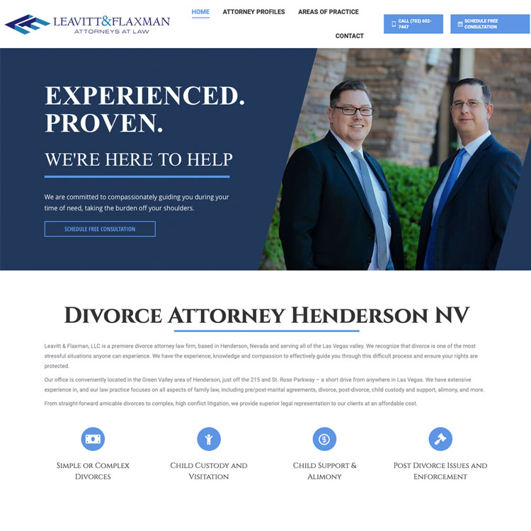 Family Law Firm Website Design