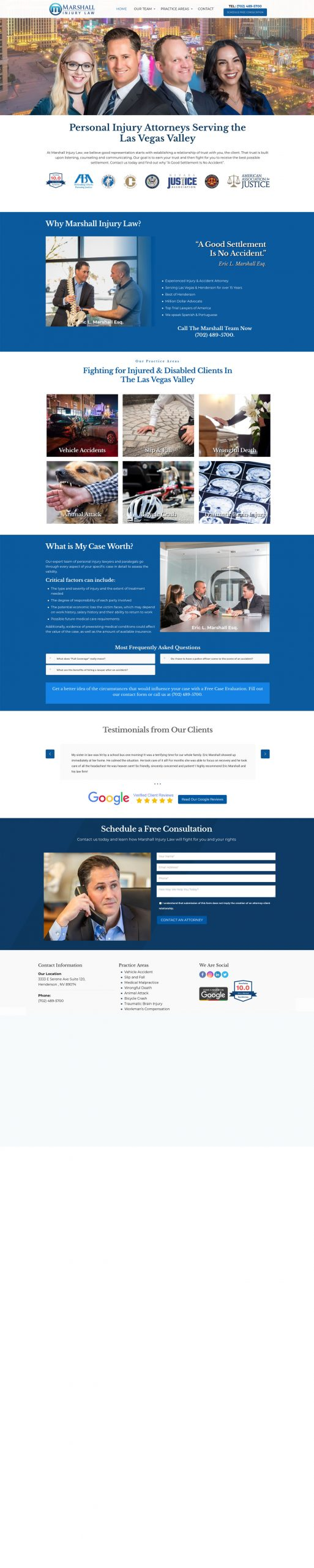 Personal Injury Law Firm Website Design